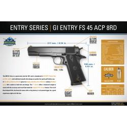 Pistolet RIA GI ENTRY FS 45ACP 8rd