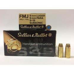 Amunicja 9x19 Selier&Bellot Subsonic 9,0g FMJ