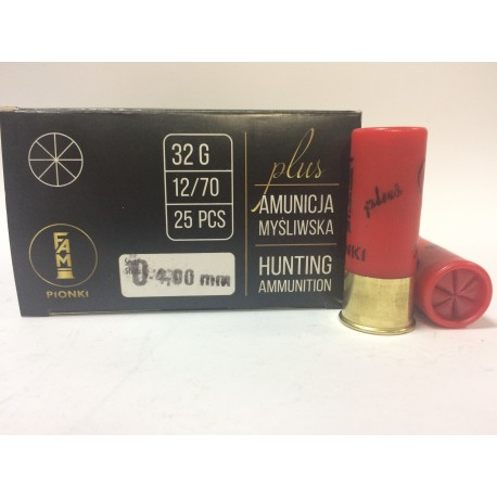 Amunicja PLUS 12/70 GW 32g 0-4,00mm