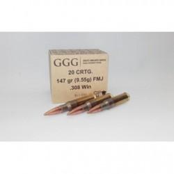 Amunicja FMJ .308 Win GGG 147gr