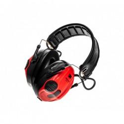 Ochronniki słuchu aktywne Peltor SportTac - czerwony/czarny